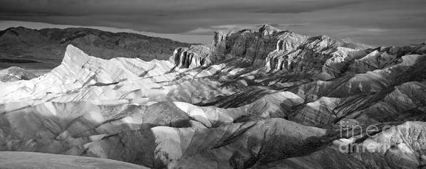 Park Print featuring the photograph Zabriskie Point Panorama by Jim Chamberlain
