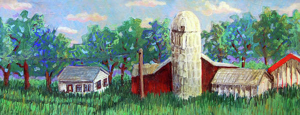 Farm Print featuring the painting Harry And Thelmas Place by Jame Hayes