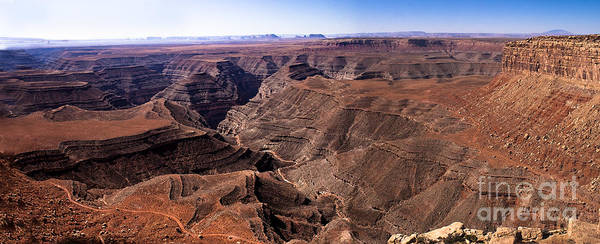 Panoramic Print featuring the photograph Panormaic View Of Canyonland by Robert Bales