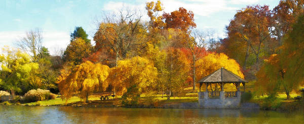 Virginia Tech Print featuring the photograph The Vt Duck Pond by Kathy Jennings