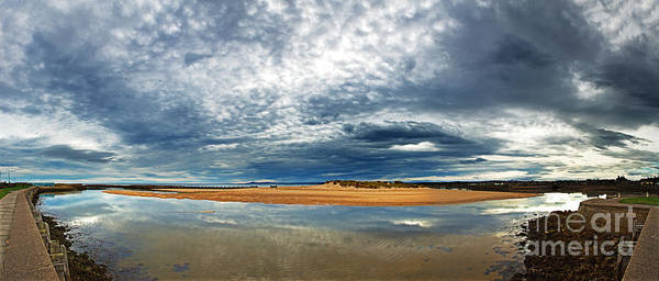 Scotland Print featuring the photograph Lossiemouth Pano by Jane Rix