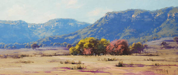 Rural Print featuring the painting Touch Of Autumn by Graham Gercken