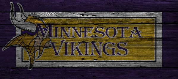 Vikings Print featuring the photograph Minnesota Vikings by Joe Hamilton