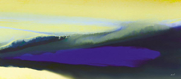 Violet Print featuring the painting A Dark Momentum by The Art of Marsha Charlebois