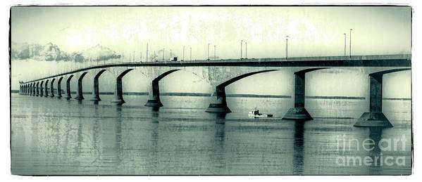 Prince Print featuring the photograph The Confederation Bridge Pei by Edward Fielding