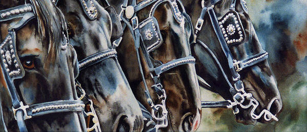 Shire Print featuring the painting 4 Shires by Nadi Spencer