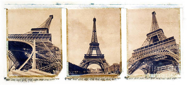Eiffel. Tower Print featuring the photograph Eiffel Tower by Tony Cordoza