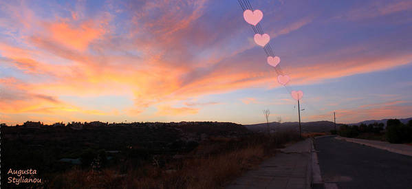 Sunset Print featuring the photograph Love And Sunset by Augusta Stylianou