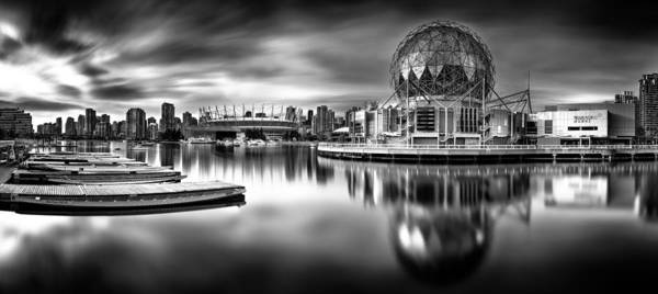 Vancouver Print featuring the photograph Silver-plated Vancouver by Alexis Birkill