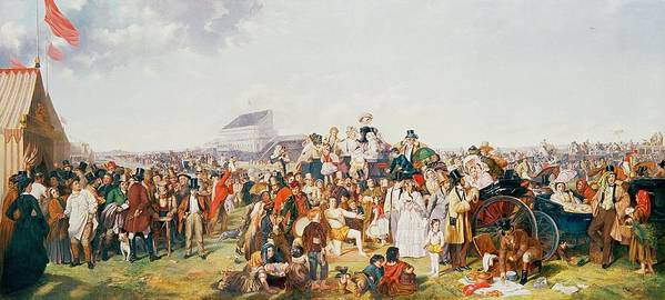 Derby Print featuring the painting Derby Day by William Powell Frith