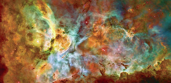 Universe Print featuring the photograph Carina Nebula - Interpretation 1 by The Vault - Jennifer Rondinelli Reilly