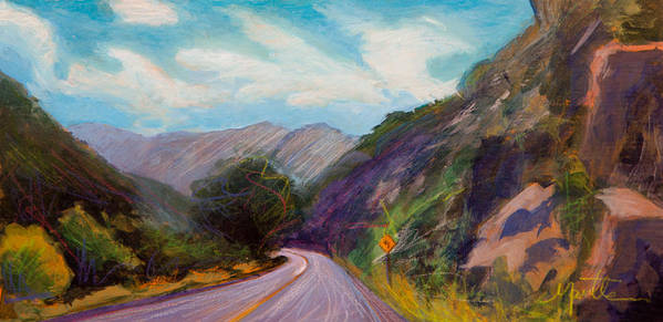 Colorado Print featuring the painting Saint Vrain Canyon by Athena Mantle