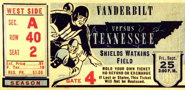 Tennessee Print featuring the photograph Volunteer State Rivalry by Benjamin Yeager