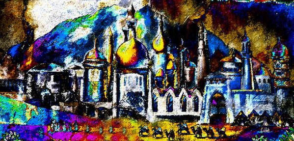 Art Print featuring the painting Baghdad by David Lee Thompson