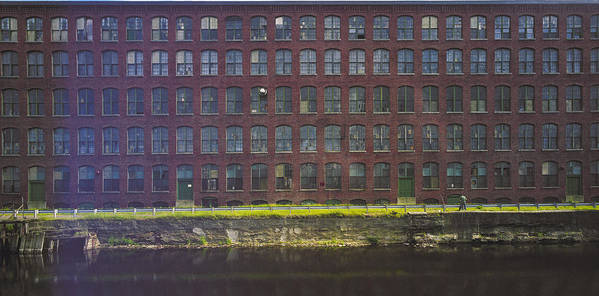 Merrimack River Print featuring the photograph Fly Fishing Lawrence Canal by Jan Faul
