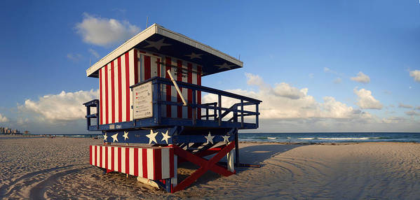 Information Print featuring the photograph Miami Beach Watchtower by Melanie Viola