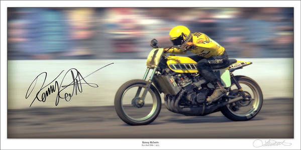 Motorcycle Print featuring the photograph Dirt Speed by Lar Matre