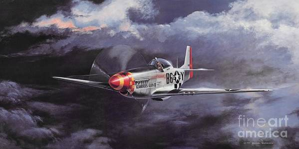 Chuck Yeager Print featuring the painting Ultimate High by Michael Swanson