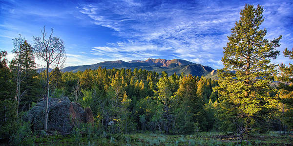 Pikes Peak Print featuring the photograph Distant Giant by Thomas Zimmerman