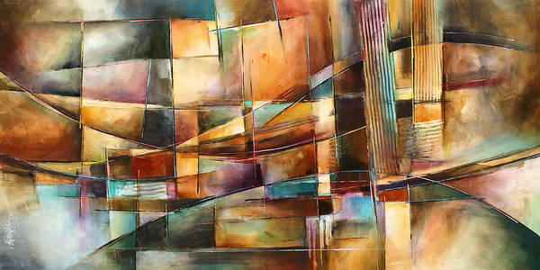 Abstract Painting Print featuring the painting 'endless Shift' by Michael Lang