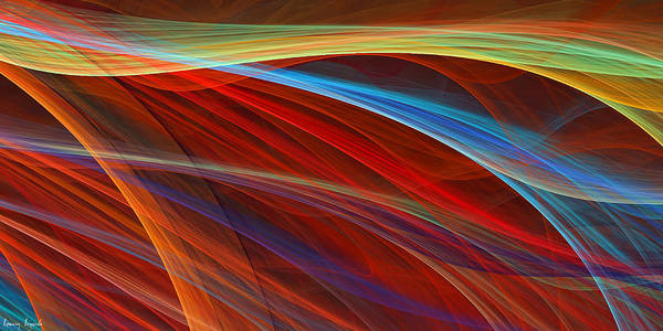 Red Print featuring the digital art Flaunting Colors by Lourry Legarde