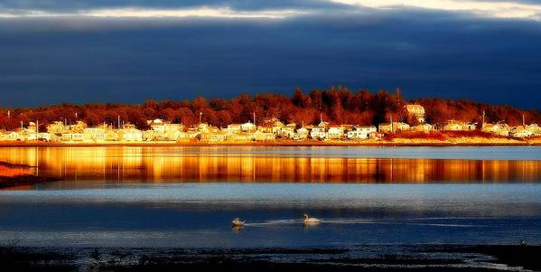 Onset Massachusetts Print featuring the photograph Storm At Sunset by Marysue Ryan