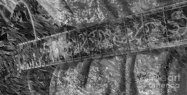 Acoustic Print featuring the photograph Gibson In Black And White Digital Guitar Art By Steven Langston by Steven Lebron Langston