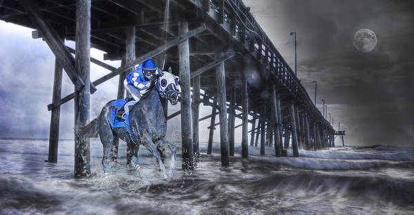 Horse Print featuring the photograph Night Run II by Betsy Knapp