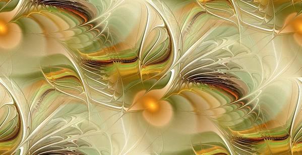 Malakhova Print featuring the digital art Soft Wings by Anastasiya Malakhova