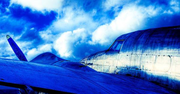Lockheed Hudson Print featuring the photograph Blue Hudson by motography aka Phil Clark