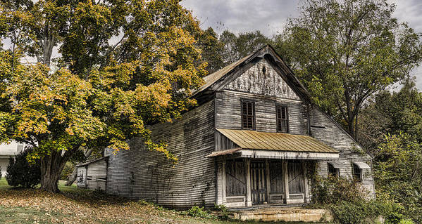Dilapidated Print featuring the photograph Dilapidated by Heather Applegate