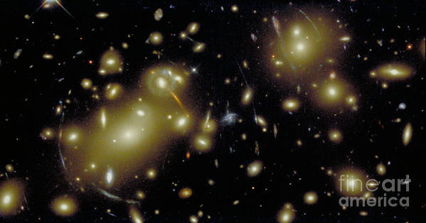 Sky Print featuring the photograph Cosmic Magnifying Glass by STScI/NASA/Science Source