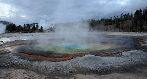 Chromatic Pool Print featuring the photograph Chromatic Pool Yellowstone by Pierre Leclerc Photography