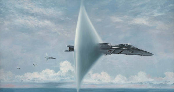 Super Hornet Print featuring the painting Wall Of Sound Redcocks Style by Wade Meyers