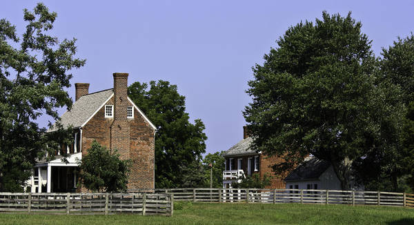 Appomattox Print featuring the photograph Clover Hill Tavern And Kitchen Appomattox Virginia by Teresa Mucha