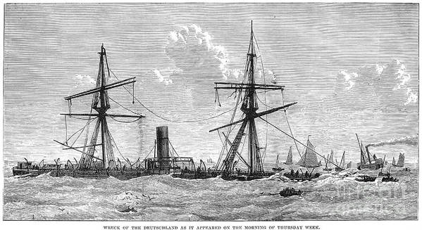 1875 Print featuring the photograph Shipwrecks, 1875 by Granger
