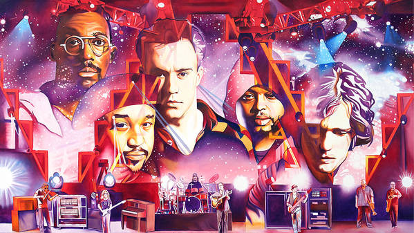 Dave Matthews Band Print featuring the painting Mercy by Joshua Morton