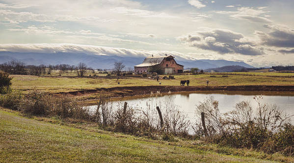 Barn Print featuring the photograph Mountain View Barn by Heather Applegate