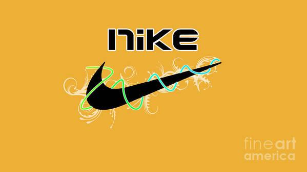 Nike Print featuring the digital art Nike by Roy Lavi