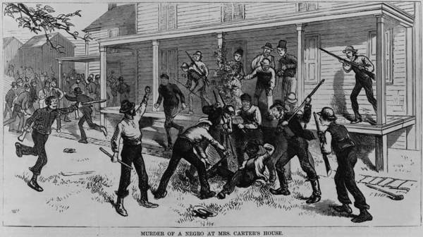 History Print featuring the photograph Irish Laborers Killing An African by Everett