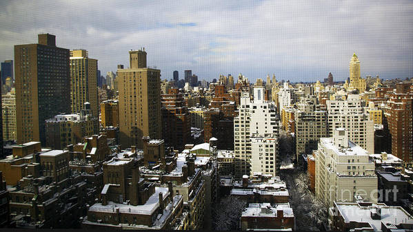 New York City Print featuring the photograph Manhattan View On A Winter Day by Madeline Ellis