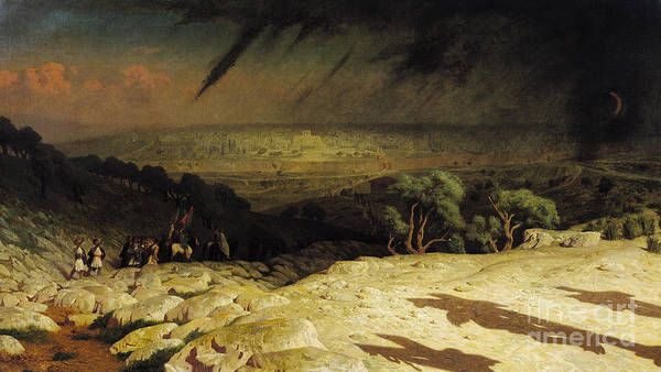 Jerusalem Print featuring the painting Jerusalem by Jean Leon Gerome