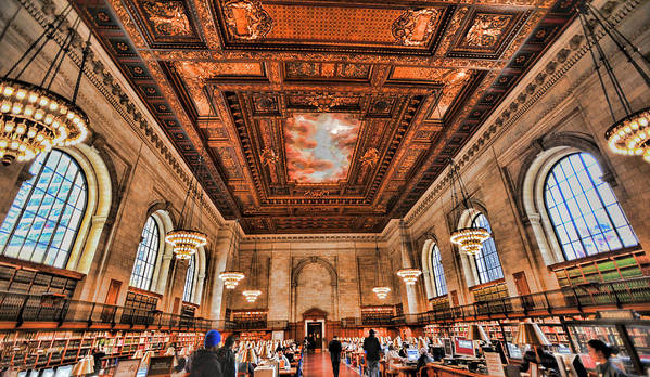Bryant Park Library Print featuring the photograph Book Heaven by Tony Ambrosio