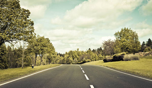 Asphalt Print featuring the photograph Country Road by Tom Gowanlock