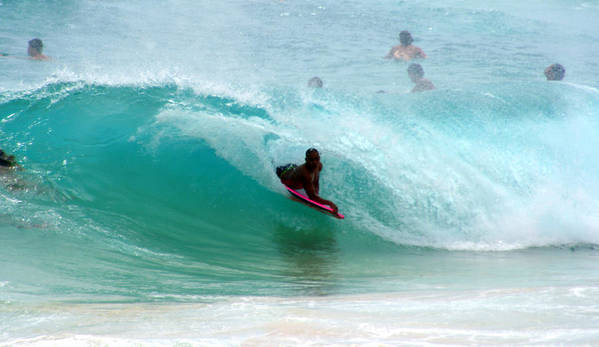 Obama Print featuring the photograph Obama's Boyhood Bodysurfing Beach by Kevin Smith