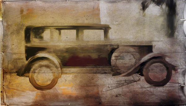 Vintage Print featuring the digital art Vintage Buick by David Ridley