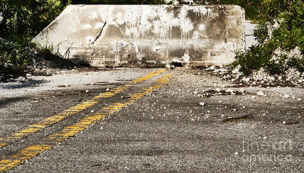 Road Print featuring the photograph Dead End Street by Blink Images