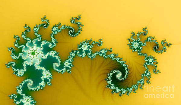 Nature Print featuring the digital art Green In The Yellow by Odon Czintos