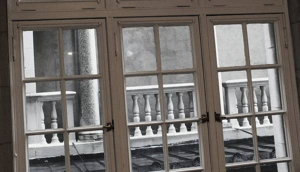 Columns Print featuring the photograph Neighbors Baluster by Anna Villarreal Garbis