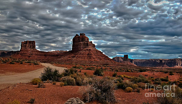Print featuring the photograph Valley Of The Gods II by Robert Bales